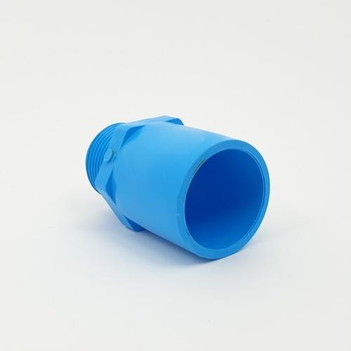 AAA ข้อต่อตรงเกลียวนอก หนา 1 นิ้ว (25)  ชั้น 13.5  สีฟ้า