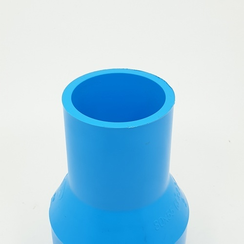 AAA ข้อต่อตรงลด  หนา 3นิ้ว X 2นิ้ว (80X55) ชั้น 13.5  สีฟ้า