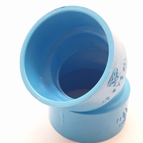 AAA ข้องอ 45 แบบบาง 1 1/2นิ้ว (40)  ชั้น 8.5  สีฟ้า