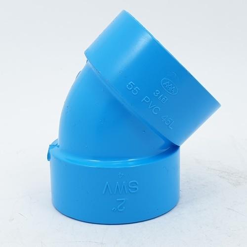 3 เอ ข้องอบาง452นิ้ว(55) - สีฟ้า