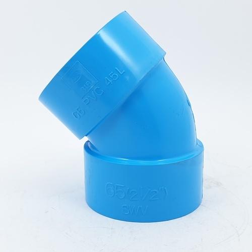 3 เอ ข้องอบาง452.1/2นิ้ว(65) ชั้น 8.5  สีฟ้า
