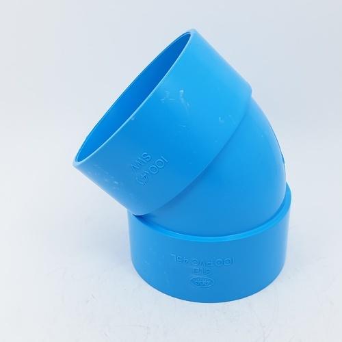 3 เอ ข้องอบาง454นิ้ว(100) - สีฟ้า