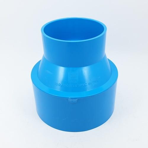 3 เอ ข้อต่อตรงลด-บาง6x4 - สีฟ้า