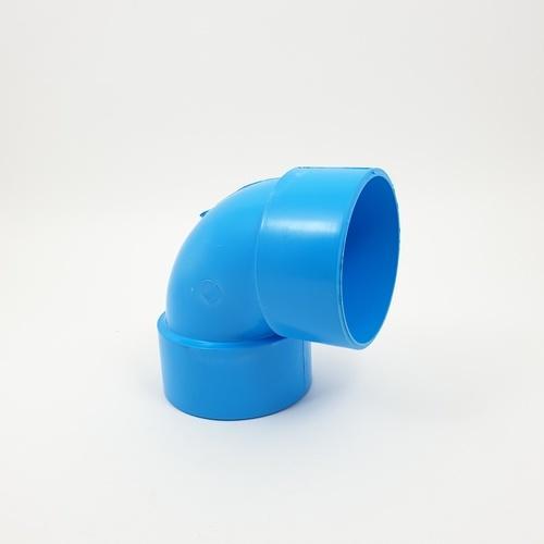 AAA ข้องอบาง 90 1.1/2แพ็ค6 - สีฟ้า