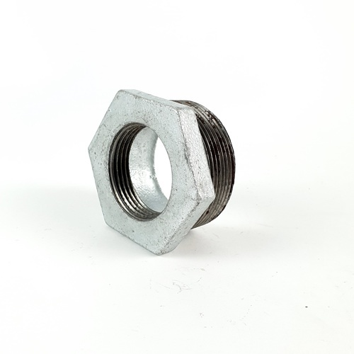 VAVO ข้อต่อลดเหลี่ยมเหล็ก  2นิ้ว×1.1/4นิ้ว สีโครเมี่ยม