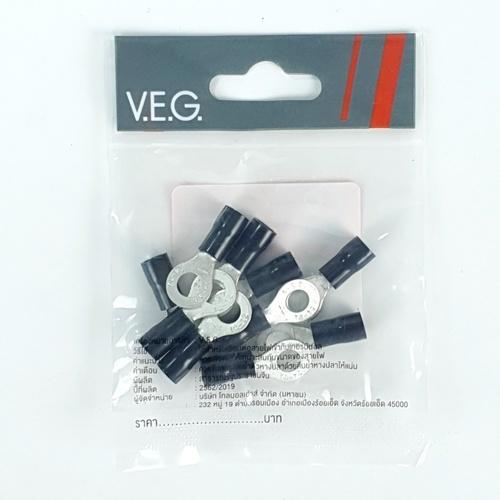 V.E.G หางปลากลมหุ้ม RF4-6 สีดำ