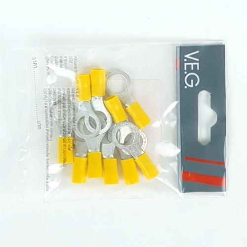 V.E.G หางปลากลมหุ้ม RF6-10 สีเหลือง