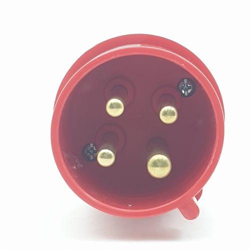 V.E.G ปลั๊กตัวผู้ต่อกลางทาง RG-024 สีแดง