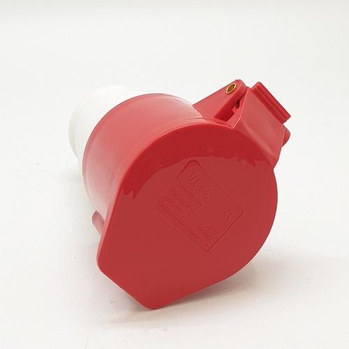 V.E.G ปลั๊กตัวเมียต่อกลางทาง  RG-224 สีแดง