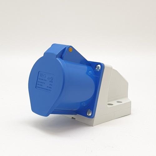 V.E.G ปลั๊กตัวเมียติดผนัง RG-S123 สีน้ำเงิน