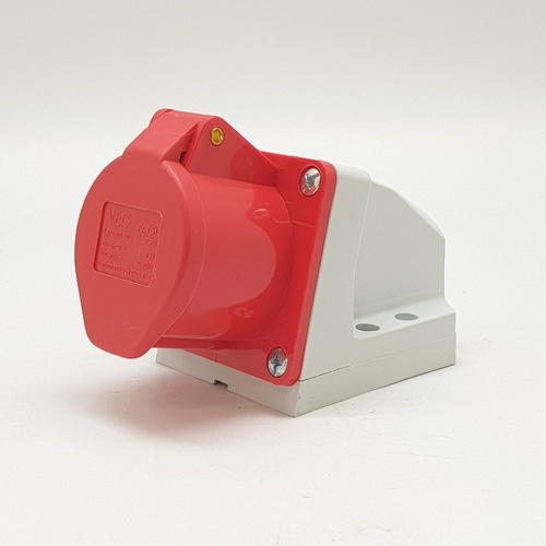 V.E.G ปลั๊กตัวเมียติดผนัง RG-S114 สีแดง