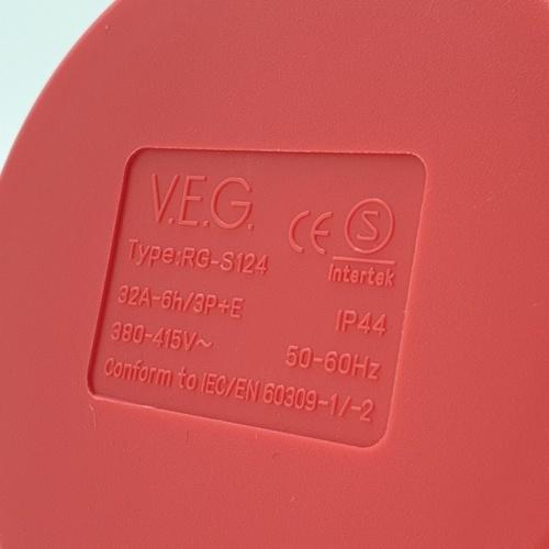 V.E.G ปลั๊กตัวเมียติดผนัง RG-S124 สีแดง