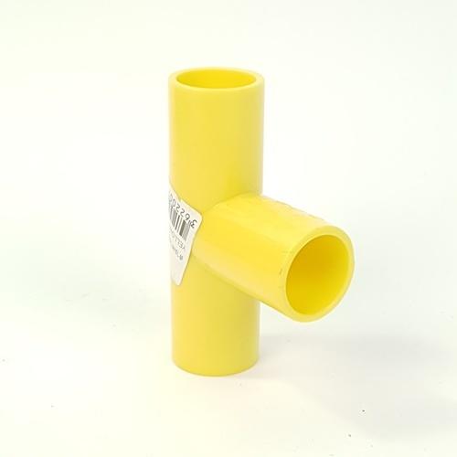 V.E.G สามทางฉากเหลือง3/8นิ้ว  -  สีเหลือง