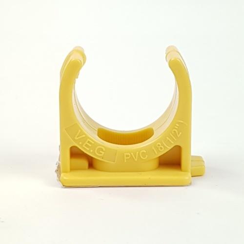 V.E.G คลิปก้ามปูร้อยสาย1/2นิ้ว  -  สีเหลือง