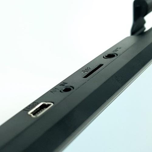 EVISION กล้องติดรถยนต์ แบบกระจก (กล้องหน้าและหลัง) CD-700R (9.66 นิ้ว)  สีดำ