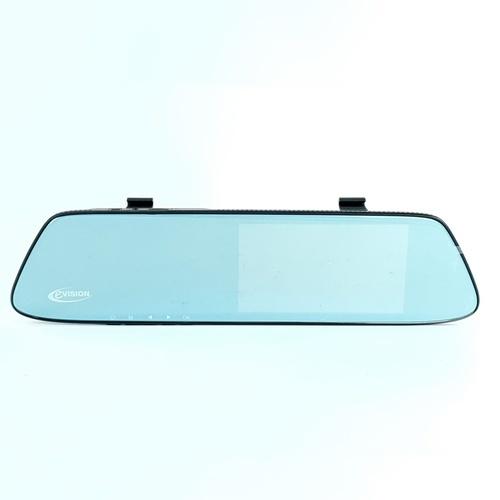 EVISION กล้องติดรถยนต์ แบบกระจก (กล้องหน้าและหลัง)  CD-500R (5 นิ้ว) สีดำ