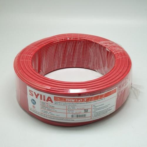 SYLLA สายไฟ 60227 IEC01  THW 1x1.5 Sq.mm. 100m. สีแดง