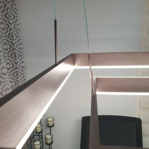SYIIA โคมไฟห้อย LED  DXD022-600-400 63W คูลไวท์  สีน้ำตาล