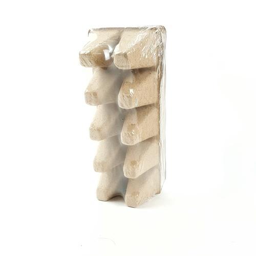 Tree O ถาดเพาะชำกระดาษขนาด10 หลุม 3.5x3.5ซม.  TL8233  สีน้ำตาลอ่อน