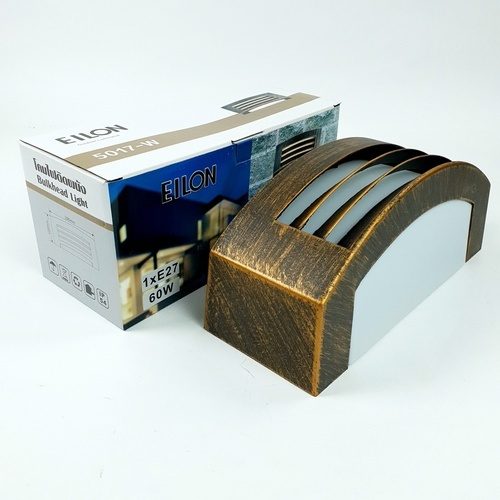 EILON   โคมไฟผนัง  5017-W สีดำทอง