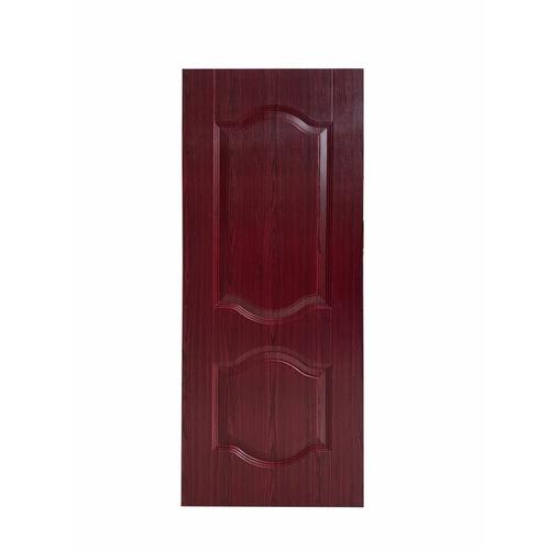 WELLINGTAN ประตูยูพีวีซี บานทึบ 2ฟักโค้ง ขนาด 80x200ซม. UPVC-W802 RED WOOD