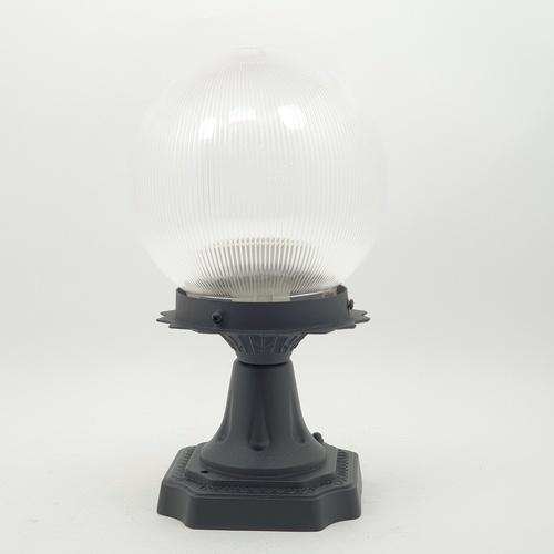 V.E.G โคมไฟหัวเสา 1035A-W แก้วลาย 6 นิ้ว