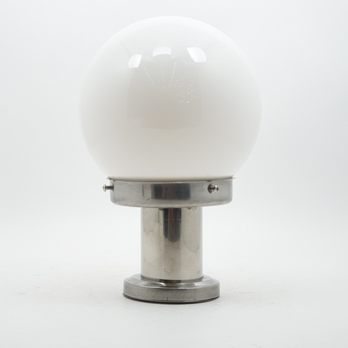 V.E.G โคมไฟหัวเสาฐานสแตนเลส 1035A-W แก้วขาว 6 นิ้ว สีขาว