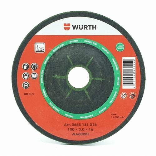 WUERTH แผ่นเจียรสเตนเลส 0665181016 สีแดงดำ