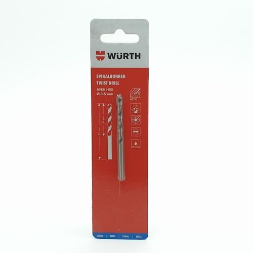 WUERTH ดอกสว่าน เจาะเหล็ก ขนาด 3.5 mm. DIN 338 HSS