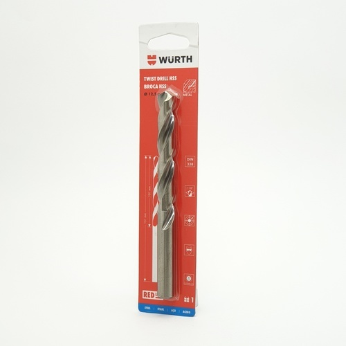 WUERTH ดอกสว่าน เจาะเหล็ก ขนาด 12.5 mm. DIN 338 HSS