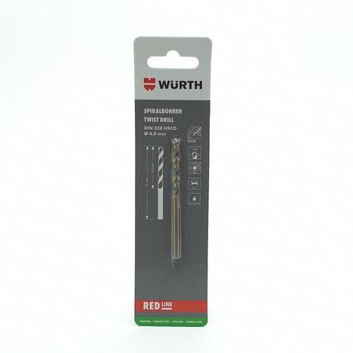 WUERTH ดอกสว่าน เจาะสเตนเลส ขนาด 4.0 mm. DIN 338 /HSCO 4.0 mm.