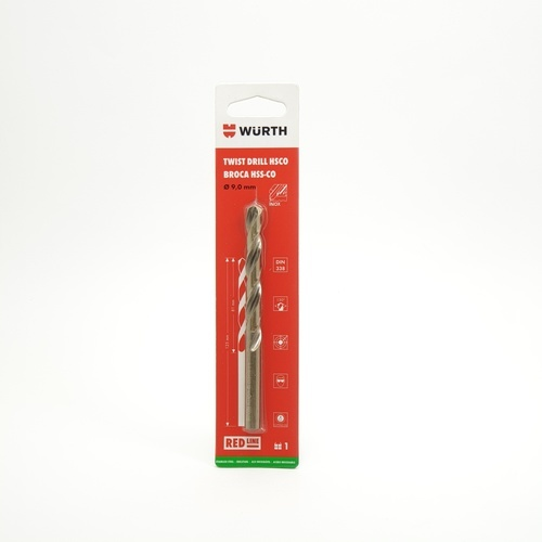 WUERTH ดอกสว่าน เจาะสเตนเลส ขนาด 9.0 mm. DIN 338 /HSCO 9.0 mm.