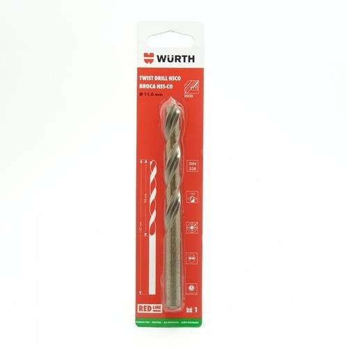 WUERTH ดอกสว่านเจาะสแตนเลส ขนาด 11.0 mm. DIN 338 /HSCO