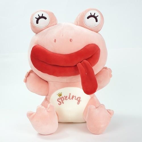 USUPSO ตุ๊กตากบยิ้มนั่ง  ขนาด 30 ซม.  สีชมพู