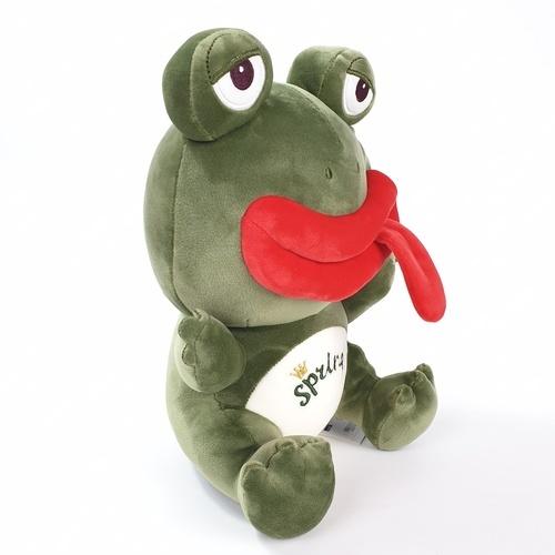 USUPSO ตุ๊กตากบยิ้มนั่ง  ขนาด 30 ซม.  สีเขียว