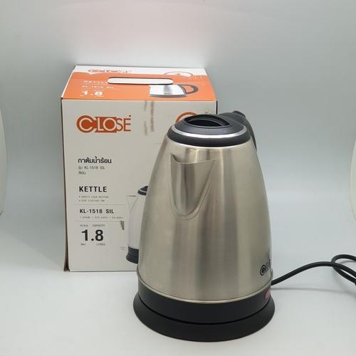 CLOSE กาต้มน้ำร้อน 1.8L  KL-1518 SIL  สีซิลเวอร์