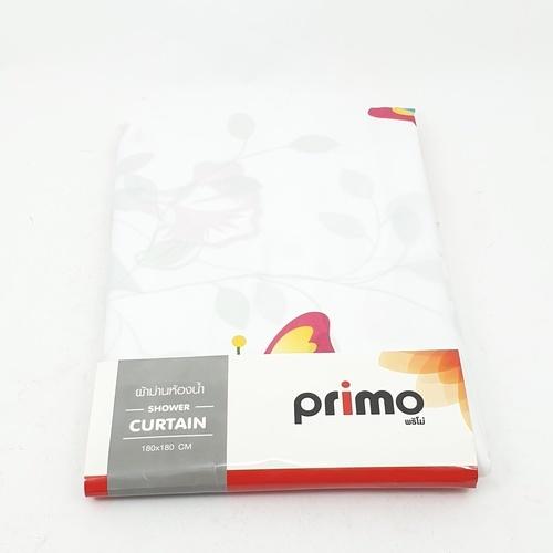 PRIMO ผ้าม่านห้องน้ำ (Polyester)  HSP1952 ลาย น้องนกและดอกไม้