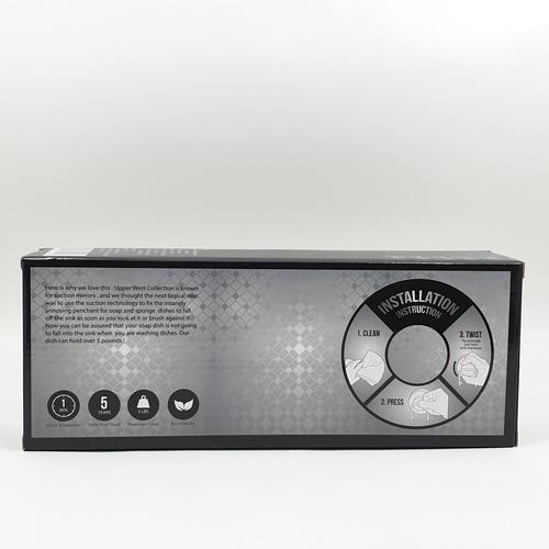 IRIS ที่ใส่กระดาษชำระสเตนเลส แบบดูดติดผนัง   ZXYC016 ขนาด 10 x 29.5 x 7.5 cm.