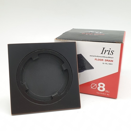 IRIS ตะแกรงกันกลิ่นทองเหลืองชุบ BLJ-8831 สีดำแมท