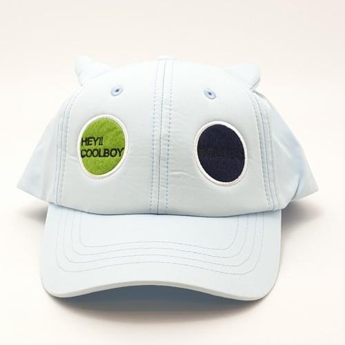 USUPSO  หมวกแก๊ปเบสบอลเด็กปักวงกลม  - สีฟ้า