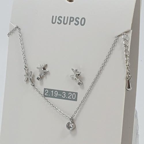 USUPSO สร้อยคอ 12 ราศีมีน - สีโครเมี่ยม