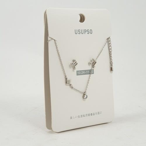 USUPSO ชุดต่างหู+สร้อยคอ  (Scorpio)