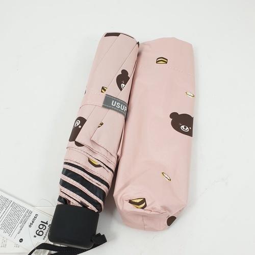 USUPSO  ร่มพับลายหมีแพนด้า USUPSO สีชมพู
