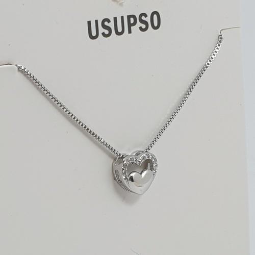 USUPSO USUPSO สร้อยคอ  heart zircon  -