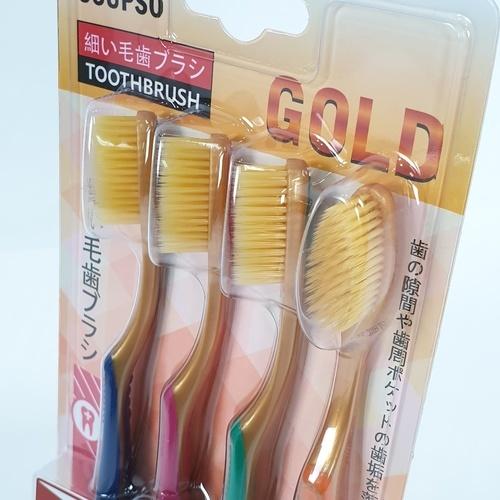 USUPSO แปรงสีฟันขนนุ่มสีทอง -