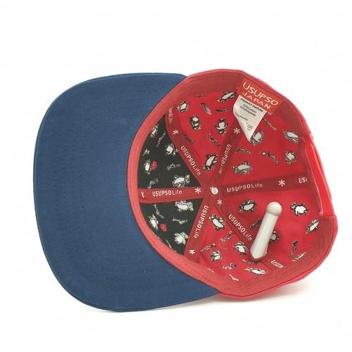 USUPSO หมวกเด็กรูปเพนกวิน - สีแดง