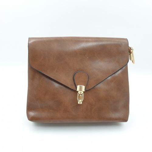 USUPSO USUPSO กระเป๋าสะพายข้าง สีน้ำตาล (#L)  ขาว