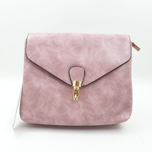 USUPSO USUPSO กระเป๋าสะพายข้าง สีชมพู (#L)  ขาว