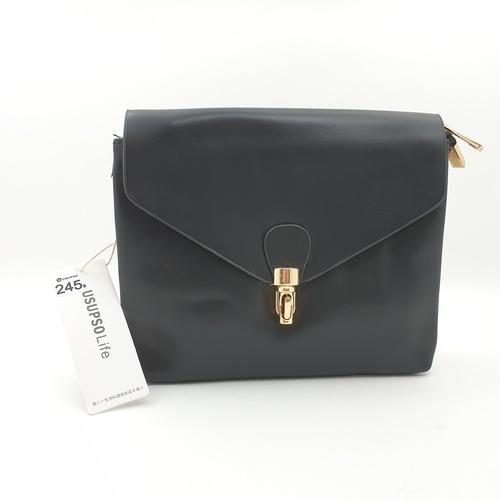 USUPSO USUPSO กระเป๋าสะพายข้าง สีดำ (#L)  ขาว