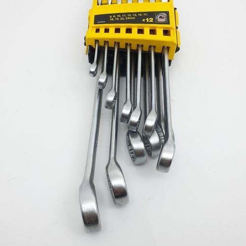 STANLEY ชุดประแจแหวนข้าง ปากตาย 12 ชิ้น STMT78097-8